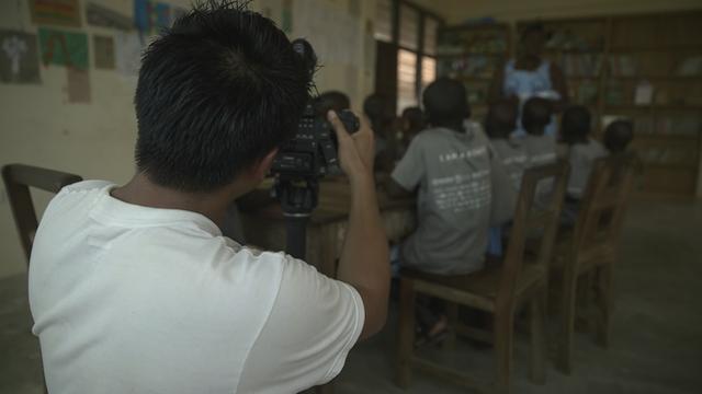 ray in ghana classroom