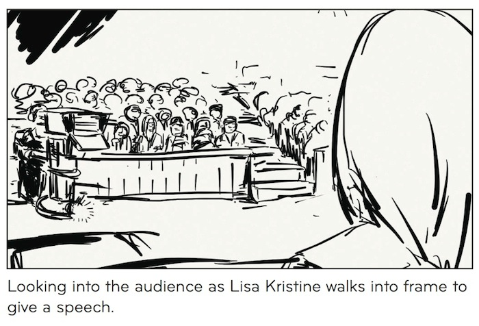 Storyboard Sample - Lisa Going on Stage